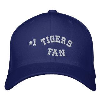 Laine de base bleue et blanche de la fan #1 de casquette brodée