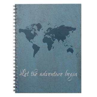 Laissez l'aventure commencer carnet