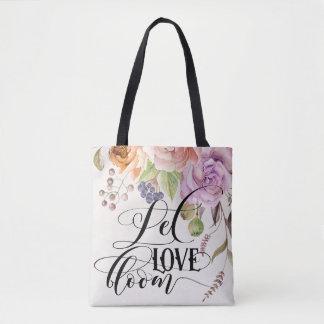 Laissez le sac fourre-tout à fleur d'amour