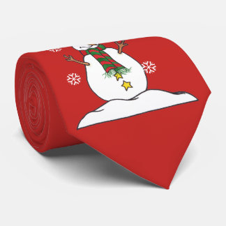 Laissez lui neiger - bonhomme de neige - cravate