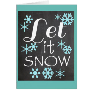 Laissez lui neiger carte de vacances de tableau