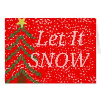 Laissez lui neiger carte pour notes