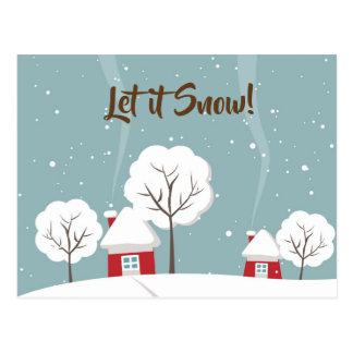 Laissez lui neiger cartes postales