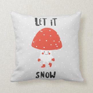 Laissez lui neiger coussin