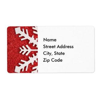 Laissez lui neiger étiquette de adresse