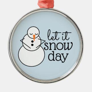 Laissez lui neiger ornement de Noël de jour