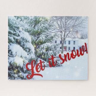 Laissez lui neiger puzzle de Noël de vacances