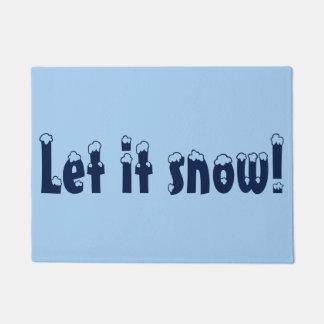 Laissez lui neiger tapis de porte
