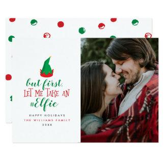 Laissez-moi prendre des cartes photos de Noël
