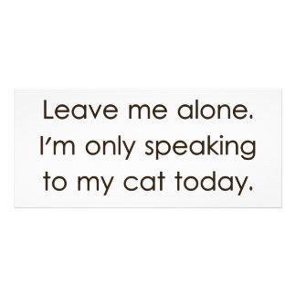 Laissez-moi seul moi parle seulement à mon chat cartes doubles