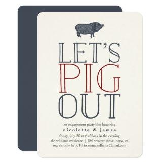 Laissez-nous invitation de BBQ de partie de