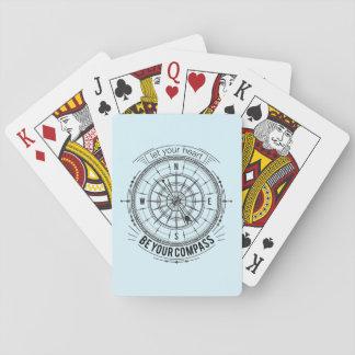 Laissez votre coeur être votre boussole cartes à jouer