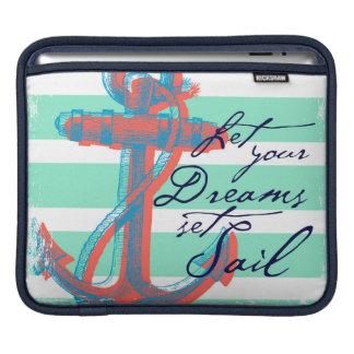 Laissez votre voile réglée par rêves housse iPad