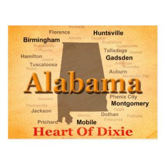 L'Alabama a vieilli la silhouette de carte
