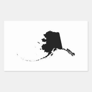 L'Alaska dans le noir Sticker Rectangulaire