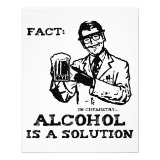 L'alcool est une solution en chimie rétro prospectus 11,4 cm x 14,2 cm