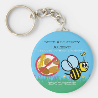 L'alerte d'allergie d'écrou gaffent des enfants porte-clés