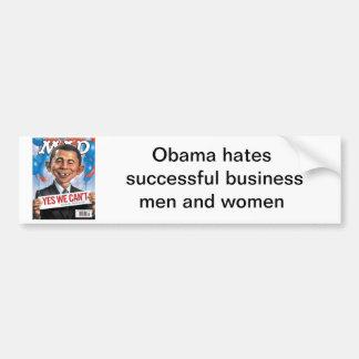 l'Alfred-e-obama-chef, Obama déteste l'autobus réu Autocollant De Voiture