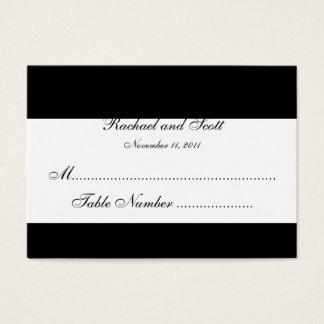 L'allocation des places de mariage de monogramme cartes de visite