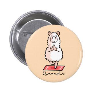 Lama de yoga - Llamaste Badge Rond 5 Cm