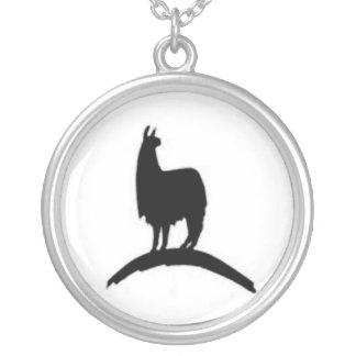 Lama op een Heuvel Zilver Vergulden Ketting