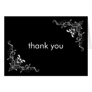 L'amende tourbillonne carte de remerciements