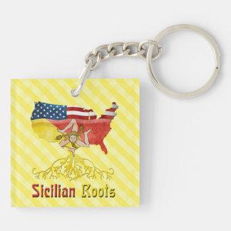 L'Américain sicilien enracine le porte-clés de
