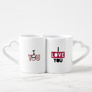 L'amour adorable cite des tasses d'amants