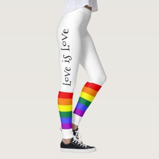 L'amour coloré d'arc-en-ciel du gay pride LGBT est Leggings