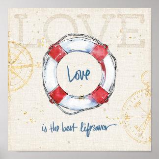 L'amour côtier de la citation | est le meilleur poster