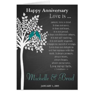 L'amour d'anniversaire de mariage est….cadeau de carte de vœux