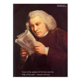 L'amour de Samuel Johnson est les cartes de