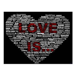 L'amour est art de mot cartes postales