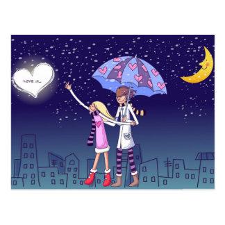 L'amour est… carte postale