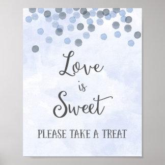 L'amour est copie douce d'affiche de mariage