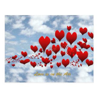 l'amour est dans la carte postale d'air