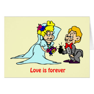 L'amour est forever carte de vœux