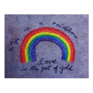 L'amour est le pot d'or carte postale
