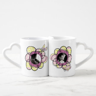 L'amour fait sur commande de photo fleurit des mug