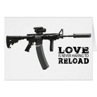L'amour ne doit jamais recharger AR-15 Carte