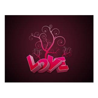 L'amour se développe carte postale