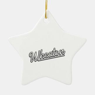 Lampe au néon de Wheaton dans le blanc Ornement Étoile En Céramique