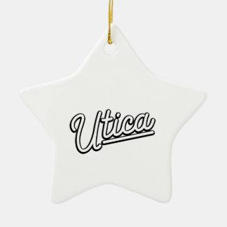 Lampe au néon d'Utica dans le blanc Ornement Étoile En Céramique