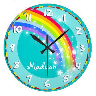 L'amusement badine l'horloge murale nommée d'aqua grande horloge ronde