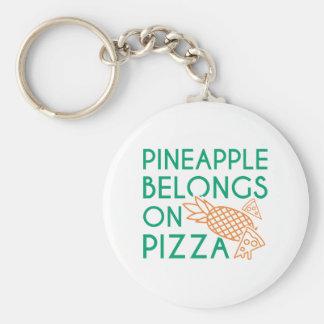 L'ananas appartient sur la pizza porte-clés