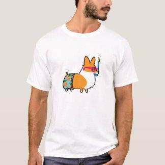 L'ananas de corgi d'été court-circuite la chemise t-shirt