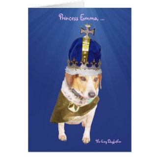 L'anniversaire de l'enfant mignon de chien carte de vœux