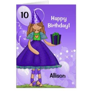 L'anniversaire de l'enfant personnalisé avec l'âge carte de vœux