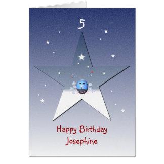 L'anniversaire des enfants carte de vœux