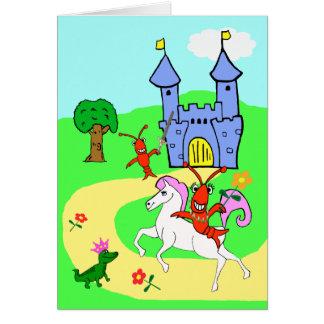 L'anniversaire lunatique de l'enfant carte de vœux